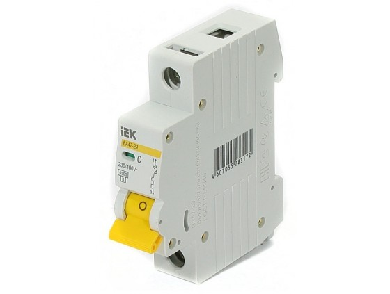 Автоматический Выключатель IEK ВА 47-29 1P C 16 А