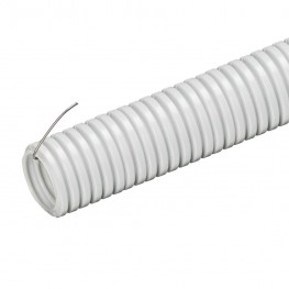 Труба Гофрированная ПВХ С Протяжкой 16 ММ (Серая)